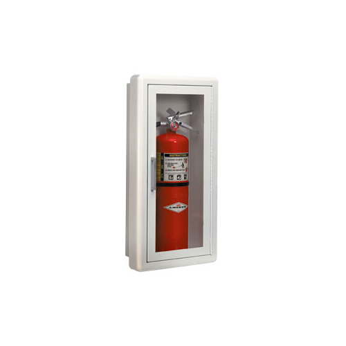 Ambassador Full Glass Fully Recessed Flat Cabinet Fire
