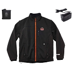 Ergodyne N-Ferno 6490 Heated Jacket with Removable Sleeves - Black