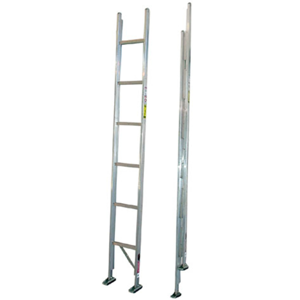Aluminum folding ladder duo safety ladder feld fire for Folding stairs