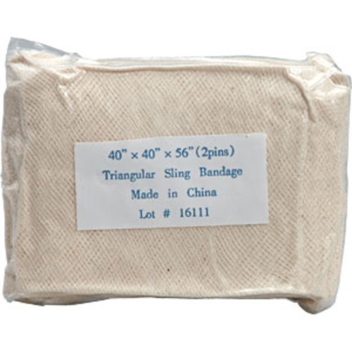 how to put on a triangular bandage sling