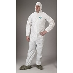 Lakeland MicroMax NS Zipper Coverall with Elastic Wrist - White