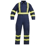 Propper FR Coverall Reflective Trim in 100% Cotton - Navy