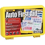 41-Piece Auto First Aid Kit, Plastic Case