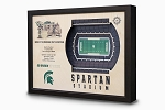 Stadium Views; Wall Art Series; Football; Michigan State Spartans
