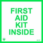First Aid Kit Inside Self-Adhesive Vinyl Sign
