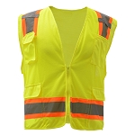 GSS Safety Premium Class 2 Fall Protection Two Tone Mesh 6 Pockets Vest
