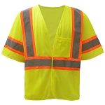 GSS Safety Standard Class 3 Two Tone Mesh Hook & Loop Safety Vest