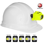 NightStik Intrinsically Safe Dual-Light Headlamp with Hard Hat Clip & Mount