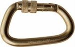 Omega Pacific Steel Carabiner, Offset D Screw Lock