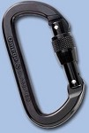 Omega Pacific Aluminum Carabiner, Locking D