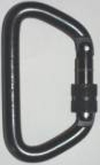 Omega Pacific Steel Carabiner, Large D Screw Lock