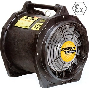 "Euramco 16"" EFi75XX Intrinsically Safe Blower with 12"" Duct Adaptor"