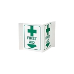 FIRST AID 3-D Rigid Plastic Sign