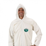 Lakeland Pyrolon Plus 2 Coverall with Zipper Closure - White