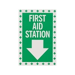 First Aid Station Self-Adhesive Vinyl Sign
