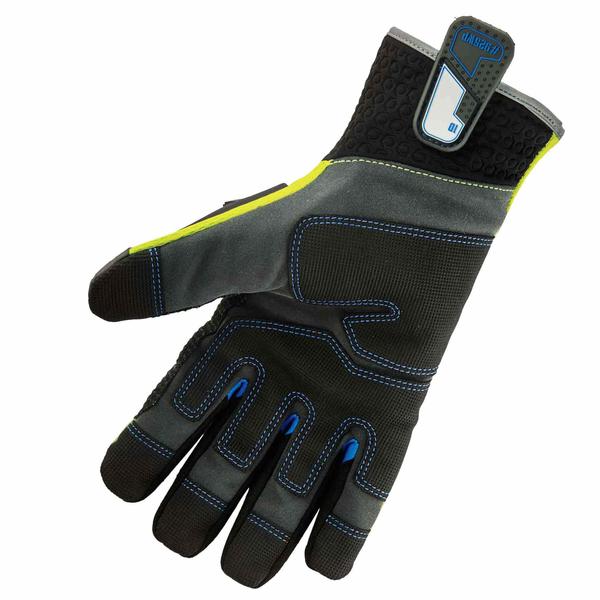 Small Ergodyne ProFlex 920 Nitrile-Dipped Impact-Reducing Work Gloves
