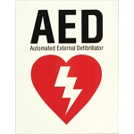 AED Glow-in-the-Dark, Self-Adhesive Vinyl Sign