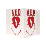 AED 3-D Rigid Plastic Sign