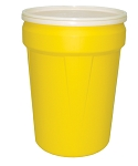 30 Gallon Open Top Drum, Yellow