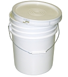5.3 Gallon Flip Top White pail w/ Lid