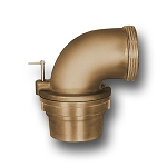 Akron 90° Front Suction Elbow with Strainer