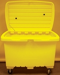 Mobile Spill Cart, Yellow 15 Cu ft