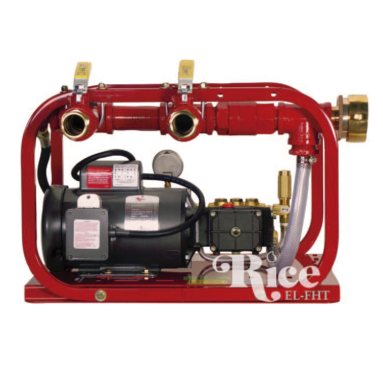 Rice hydrostatic test pump fire hose tester feld fire for Rice pump and motor
