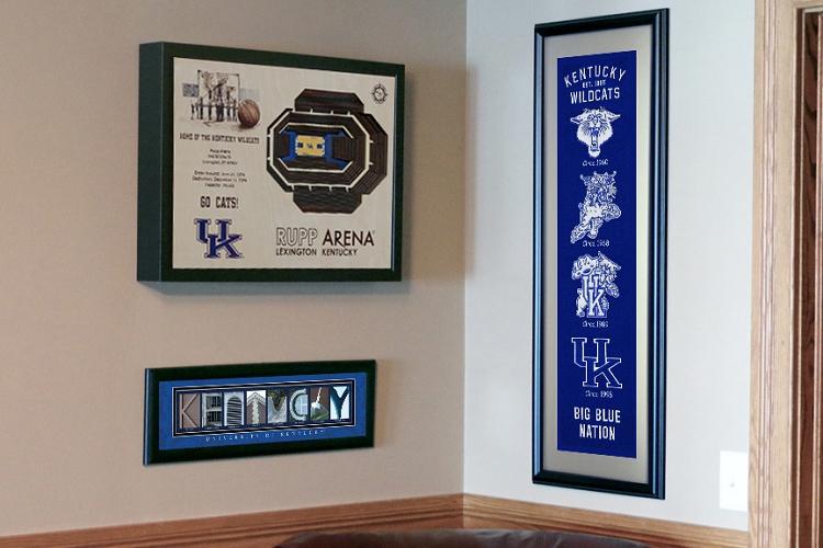 Stadium Views Wall Art Series Basketball Kentucky Wildcats