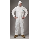 Lakeland MicroMax NS Zipper Coverall with Attached Hood - White