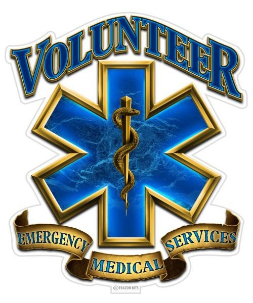 Reflective Decal Volunteer Ems Feldfire Com