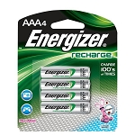 Recharge AAA Batteries, 4/Pkg
