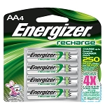 Recharge AA Batteries, 4/Pkg
