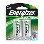 Energizer® Recharge® C Batteries, 2/Pkg