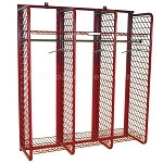Red Rack Gear Storage, Wall Mounted 20