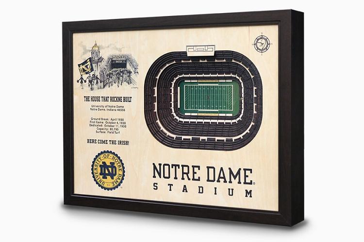 Notre Dame Stadium Wall Art Football Gifts Feldfire Com