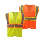 GSS Safety Class 2 Two Tone Mesh Hook & Loop Vest
