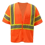 GSS Safety Class 3 Two Tone Zipper Mesh Vest
