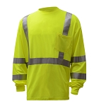 GSS Safety 5505 Class 3 Long Sleeve T-Shirt - Lime