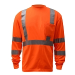 GSS Safety 5506 Class 3 Long Sleeve T-Shirt - Orange