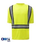 GSS Safety Class 2 New Onyx Snag Proof Short Sleeve Shirt With Segment Tape