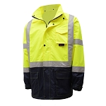 GSS Safety 6003 Class 3 Premium Utility Rain Coat - Lime