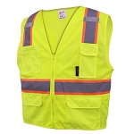 GSS Safety Class 2 Multi-Purpose Vest With 6 pockets