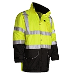 GSS Safety 8503 Class 3 7-IN-1  Waterproof All Seasons Jacket - Lime