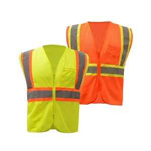GSS Safety Class 2 Two Tone Mesh Zip Vest