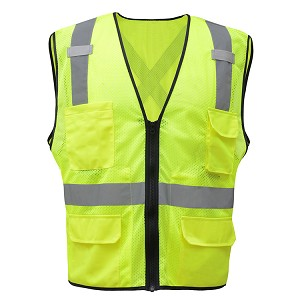 GSS Safety 1605 Premium Class 2 Utility Safety Vest with X back Vest