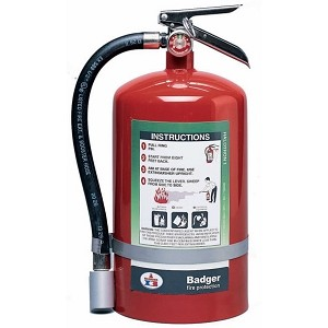 Badger° Extra 5 lb Halotron® I Fire Extinguisher w/ Wall Hook