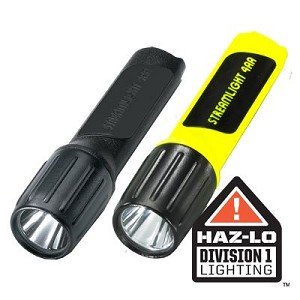 4AA Lux Div 1 with White LED and alkaline batteries.  Blister packaged. Black