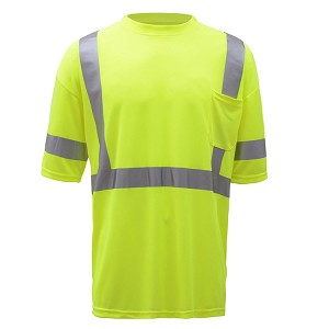 GSS Safety  Class 3 Moisture Wicking Short Sleeve Safety T-Shirt with Chest Pocket