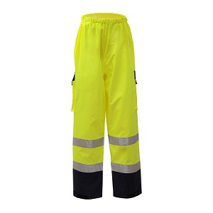 GSS Safety 6803 Class E Premium Waterproof Pants With Black Bottom