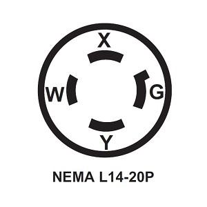 Akron Brass Extenda Lite 20 Amp 125/250 Volt Twist Lock